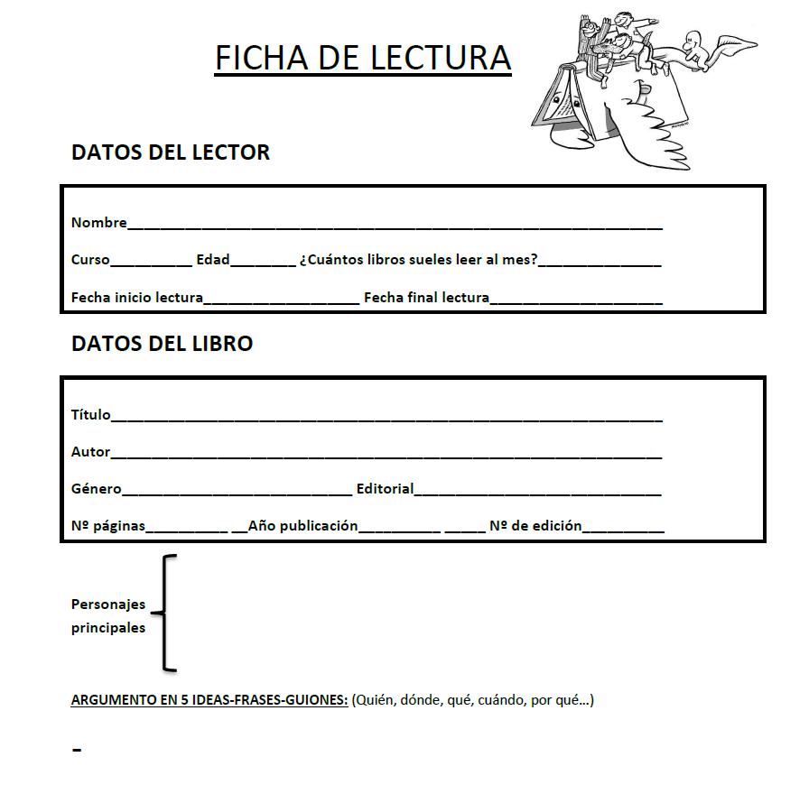 Ficha de lectura para alumnos de 4º, 5º y 6º de Primaria - academia ...